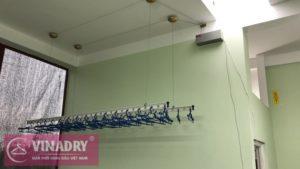 Giàn phơi bấm điện tự động Vinadry được đại lý lắp đặt thực tế