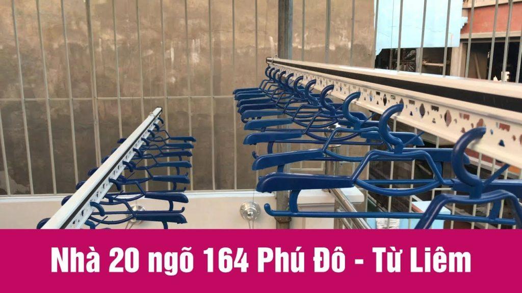 Lắp giàn phơi thông minh ở trần mái tôn nhà chị Thoa ở ngõ 164 Phú Đô