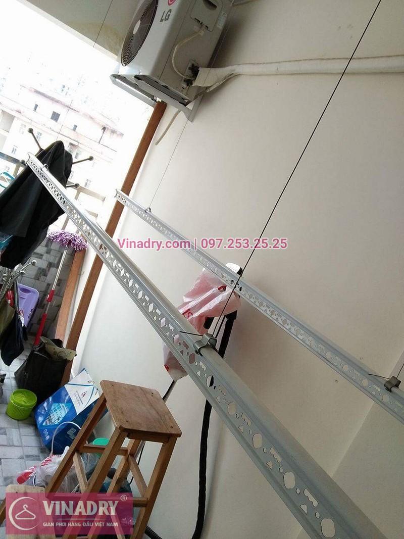 Lắp giàn phơi thông minh nhà chị Dịu ở chung cư 24T2 Hoàng Đạo Thúy