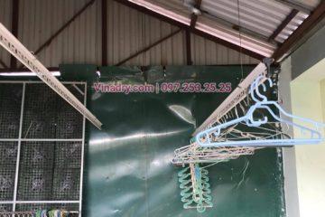 Lắp giàn phơi thông minh ở Đống Đa nhà chị Ngọc ở ngõ 151 Thái Hà