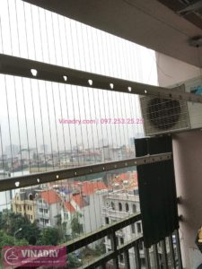Sửa giàn phơi thông minh nhà chú Đạo ở chung cư CT3 Trung Văn, Từ Liêm
