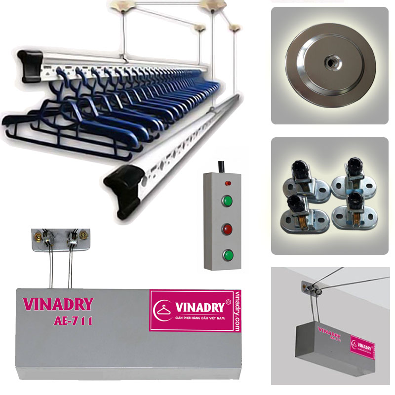 Giàn phơi thông minh bấm điện tự động Vinadry AE711