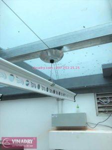 Giàn phơi bấm điện tự động có lắp được ở trần mái tôn, mái kính...