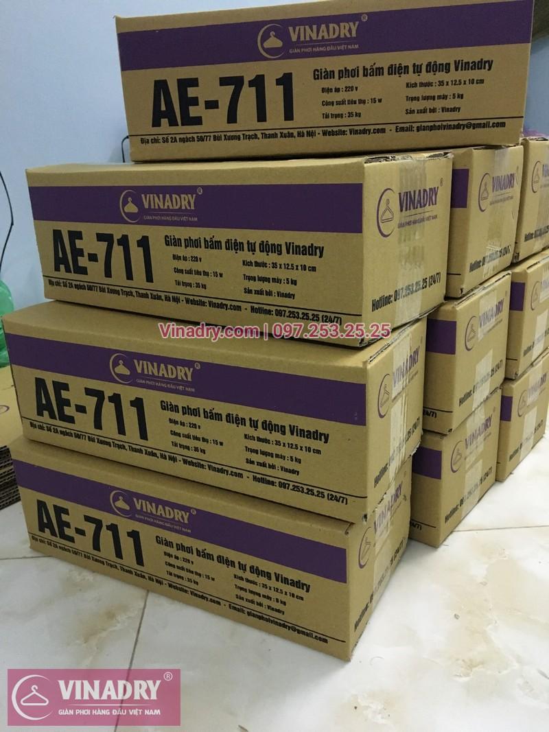 Bao bì sản phẩm giàn phơi Vinadry AE 711 chính hãng