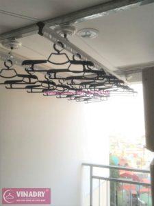 Lắp đặt giàn phơi thông minh Long Biên nhà anh Lâm ở chung cư Mipec Long Biên