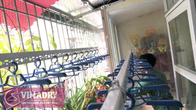 Lắp giàn phơi Đống Đa nhà chú Phú ở ngách 122/41 ngõ Thịnh Quang