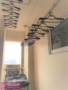 Lắp giàn phơi thông minh nhà chị Ngà ở chung cư Hòa Bình Green City 505 Minh Khai