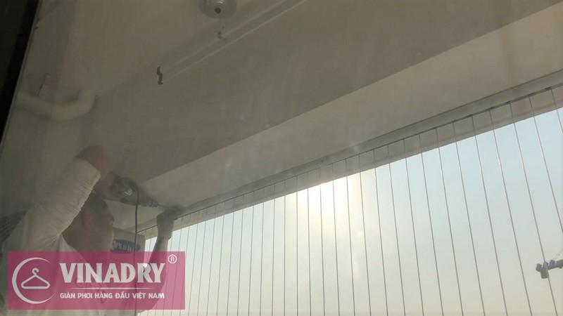 Lắp lưới an toàn ban công chung cư nhà anh Bình P1302 FLC Garden City, Đại Mỗ