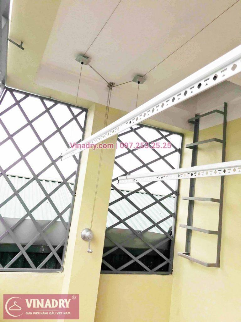 Lắp đặt giàn phơi thông minh nhà anh Thịnh ở ngõ 158 Trương Định