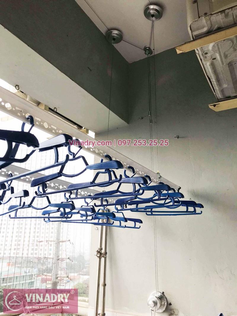 Lắp giàn phơi Hà Đông nhà chị Ly ở chung cư CT2 Xa La