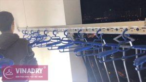Lắp đặt giàn phơi thông minh ở Royal City, Thanh Xuân nhà chị Minh