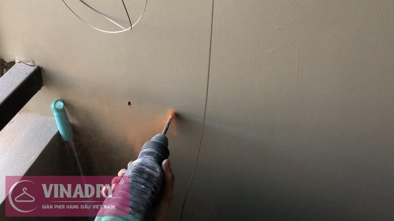 Lắp giàn phơi Hà Đông nhà chị Dung ở chung cư Season Avenue Mỗ Lao