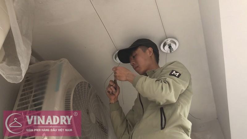Lắp giàn phơi Hai Bà Trưng nhà chị Lam ở chung cư Hinode City 201 Minh Khai