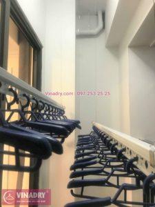 Lắp giàn phơi Hoàng Mai ở chung cư Sunshine Palace Lĩnh Nam nhà chị Hà