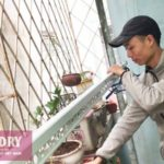 Lắp giàn phơi Tây Hồ nhà chị Dinh ở ngõ 378 Thụy Khuê – bộ giàn phơi thông minh HP701
