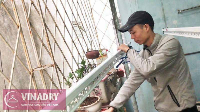 Lắp giàn phơi Tây Hồ nhà chị Dinh ở ngõ 378 Thụy Khê - bộ giàn phơi thông minh HP701