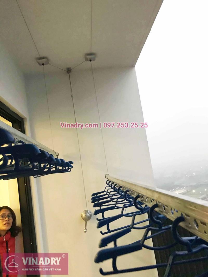 Lắp giàn phơi Thanh Xuân nhà chị Diễm P2505 tòa G1 chung cư Five Star Kim Giang