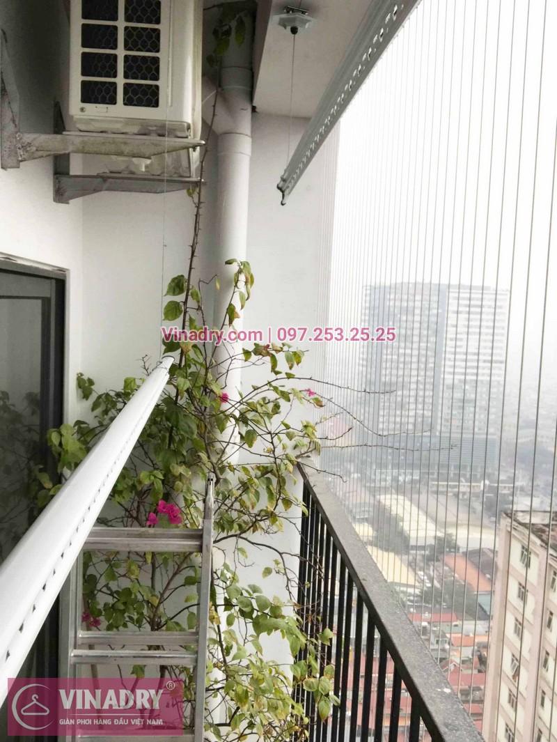 Lắp giàn phơi Thanh Xuân nhà chị Hồng ở Golden West chung cư số 2 Lê Văn Thiêm