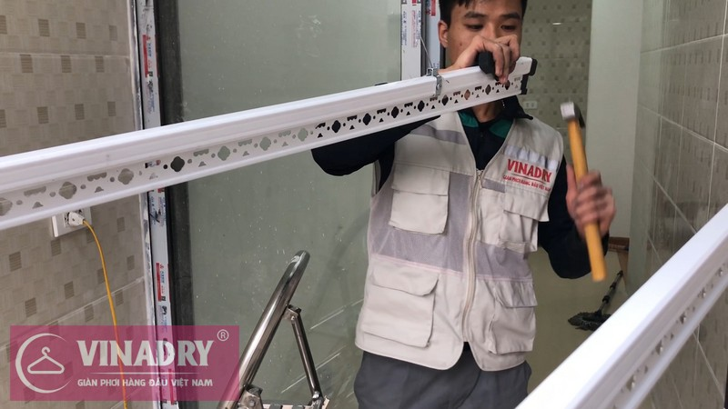 Lắp giàn phơi Thanh Xuân nhà chị Hạ ở ngõ 60 Lê Văn Thiêm