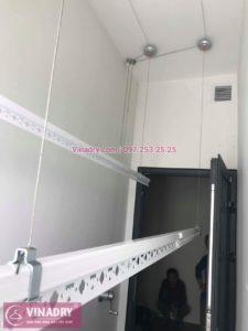 Lắp giàn phơi thông minh nhà chị Ngà ở tòa 27T Imperia Garden, 203 Nguyễn Huy Tưởng