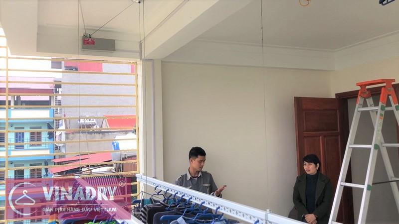 Lắp giàn phơi tự động Vinadry nhà chị Hằng ở Lệ Chi, Gia Lâm