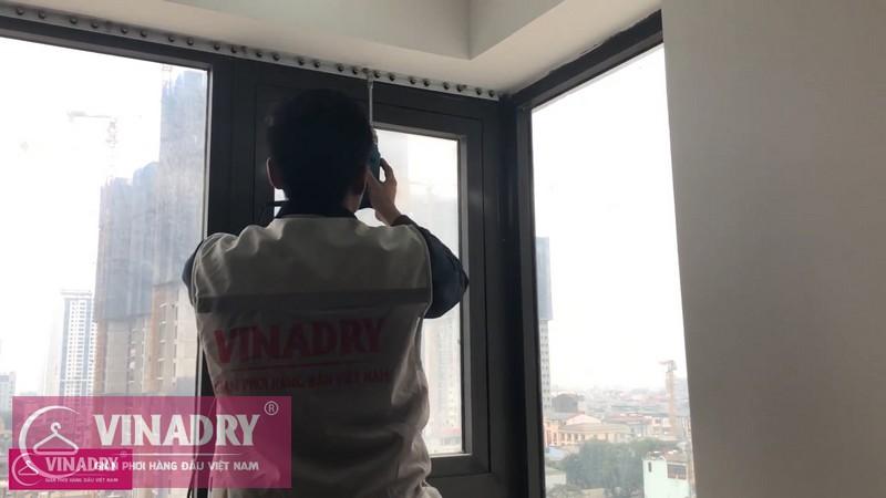 Lắp lưới an toàn ban công nhà chị Hà ở chung cư Golden West số 2 Lê Văn Thiêm