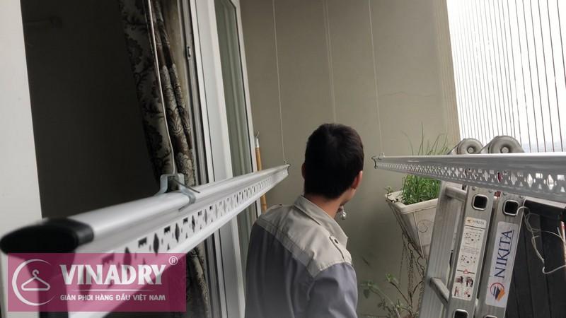 Lắp giàn phơi Hà Đông nhà anh Trình P1509 chung cư HUD3 Tô Hiệu