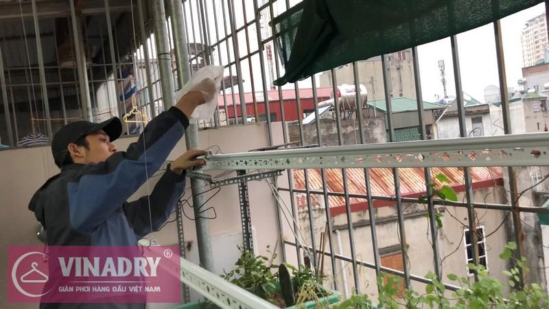 Lắp giàn phơi Hai Bà Trưng nhà anh Lâm số 1 ngách 10 ngõ Gốc Đề, Minh Khai