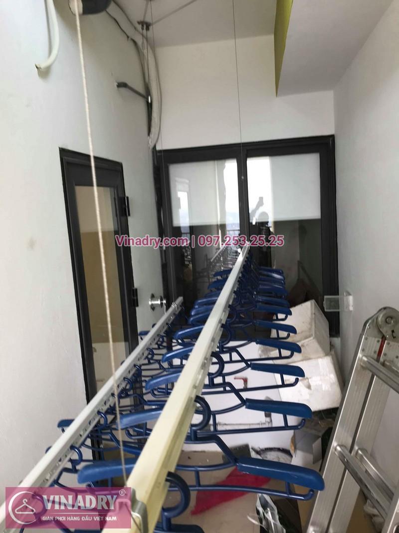 Lắp giàn phơi Hoàng Mai nhà chị Minh ở chung cư Đồng Phát Park View Tower