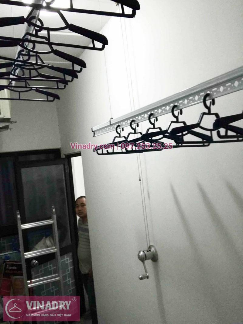 Lắp giàn phơi Hoàng Mai nhà chị Phương ở tòa D1 chung cư Kim Văn Kim Lũ