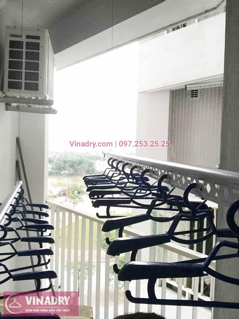 Lắp giàn phơi Long Biên nhà chị Ly ở chung cư Happy House Garden Việt Hưng