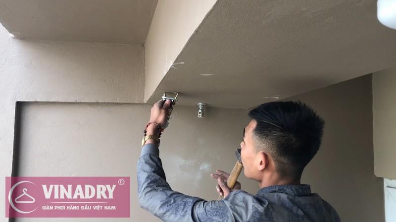 Lắp giàn phơi Cầu Giấy nhà chị Lệ P2102 chung cư CT4 Vimeco Nguyễn Chánh