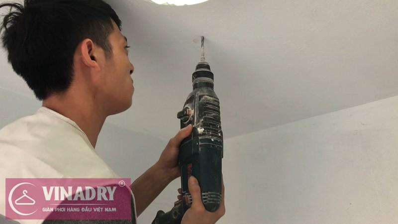 Lắp giàn phơi Hoàng Mai nhà chị Mỹ P.5A04 chung cư Rice City Linh Đàm