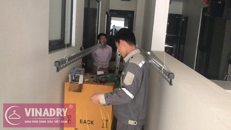 Lắp giàn phơi Thanh Xuân nhà anh Mừng P4012A chung cư Imperia Garden Hà Nội