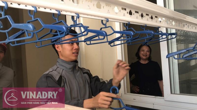 Lắp giàn phơi Thanh Xuân nhà cô Tài P1412 chung cư 183 Hoàng Văn Thái