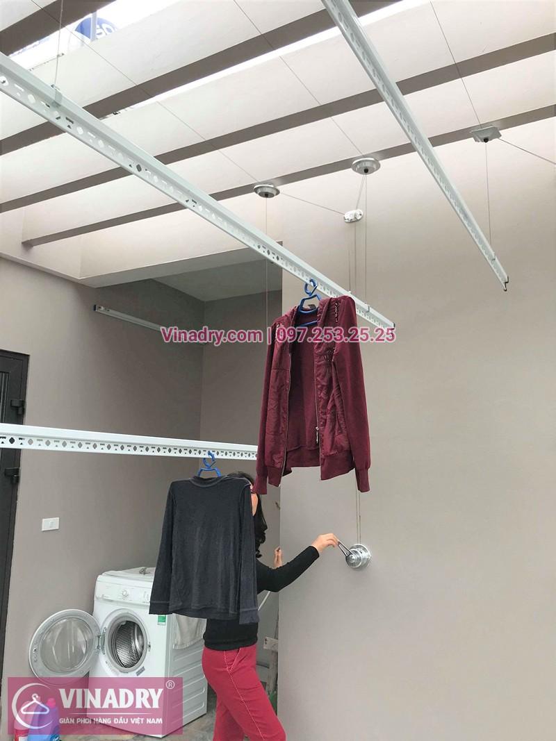 Lắp giàn phơi đồ thông minh nhà chị Tân ở thị trấn Sóc Sơn