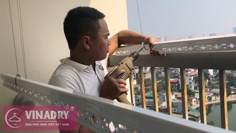 Lắp giàn phơi Thanh Xuân nhà cô Chính ở chung cư 183 Hoàng Văn Thái