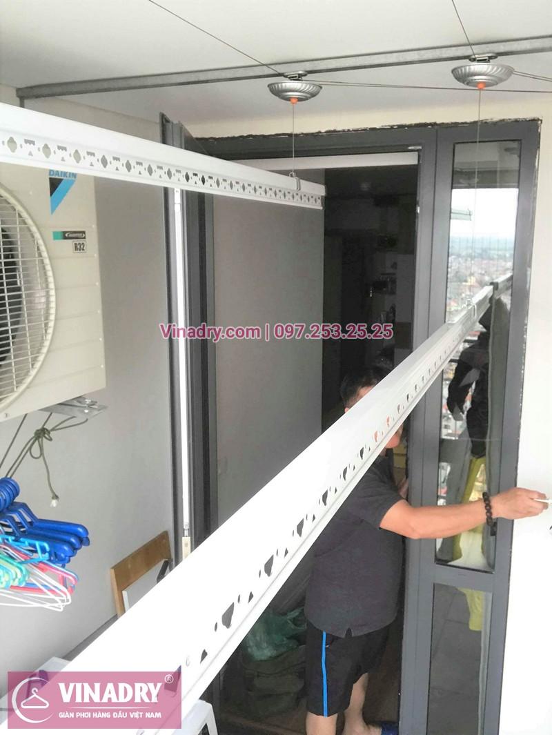 Lắp giàn phơi thông minh ở chung cư Mipec Long Biên nhà chú Lộc