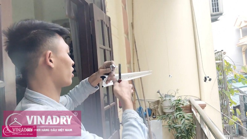 Lắp giàn phơi Từ Liêm nhà chị Thương ở số 50 ngõ 14 Mễ Trì Hạ, Mễ Trì