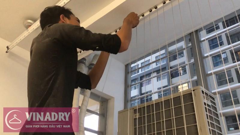 Lắp lưới an toàn ban công nhà chị Nguyệt P616 tòa A1, Vinhome Gardenia Mỹ Đình