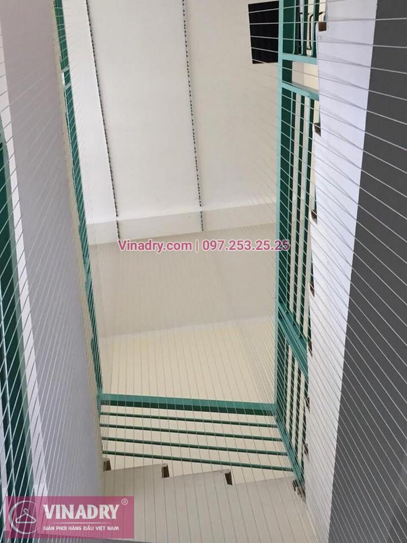 Lắp lưới an toàn cầu thang Trường Mầm non Xuân Tảo số 126 Xuân Đỉnh