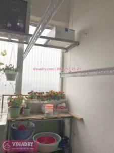 Sửa giàn phơi thông minh nhà chị Dịu ở chung cư Mipec Long Biên