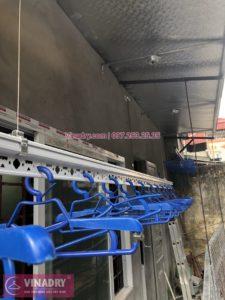 Lắp giàn phơi Ba Đình nhà chị Dịu ở trần mái tôn ngõ 42 Thành Công