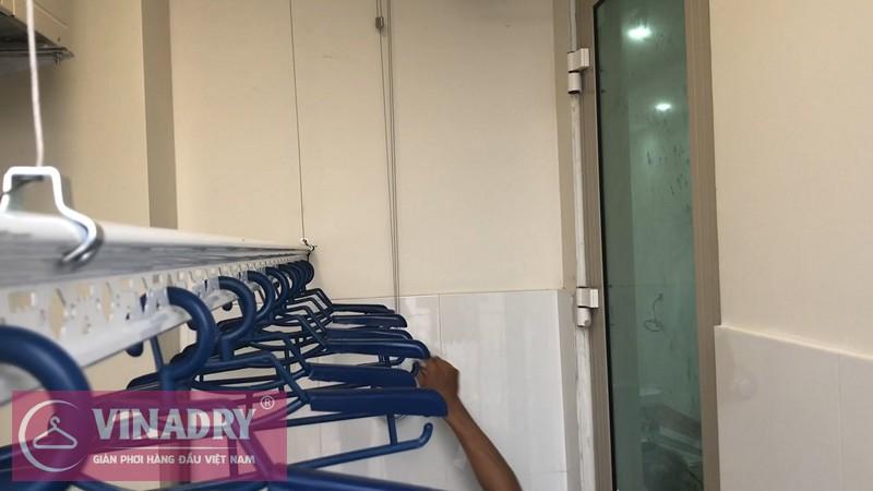 Lắp giàn phơi Hoàng Mai nhà anh Thụy P2405, tòa B chung cư Mandarin 2 Tân Mai