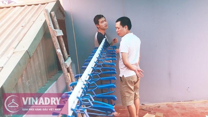 Lắp giàn phơi Hoàng Mai nhà anh Tuấn ở số 11, ngõ 255 Lĩnh Nam
