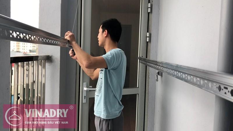 Lắp giàn phơi Minh Khai nhà chị Thảo P509 chung cư 536A Minh Khai Vinahud