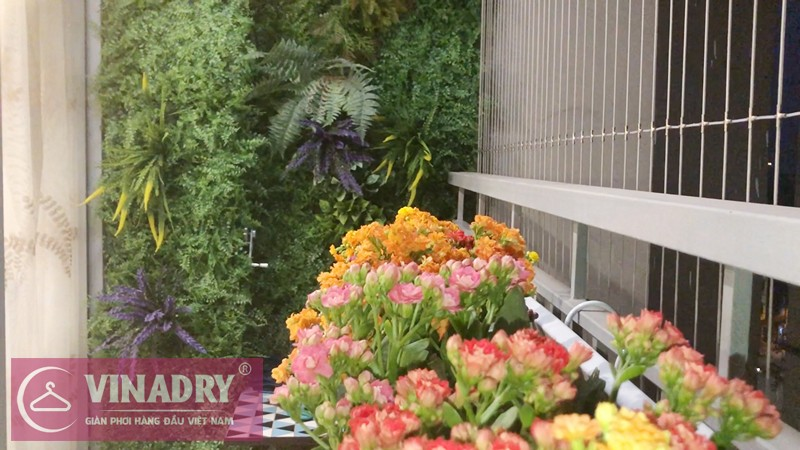Lắp giàn phơi quần áo chung cư nhà chị Lệ P12A05 tòa A3 Vinhomes Gardenia Mỹ Đình
