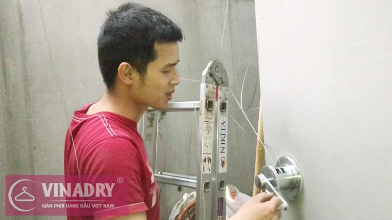 Lắp giàn phơi Tây Hồ nhà chị Phượng ở số 8 ngách 18 ngõ 50 Võng Thị