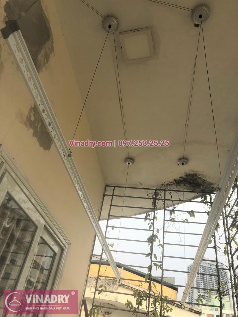 Lắp giàn phơi Cầu Giấy nhà chị Hà P605, N14 đường Trần Đăng Ninh