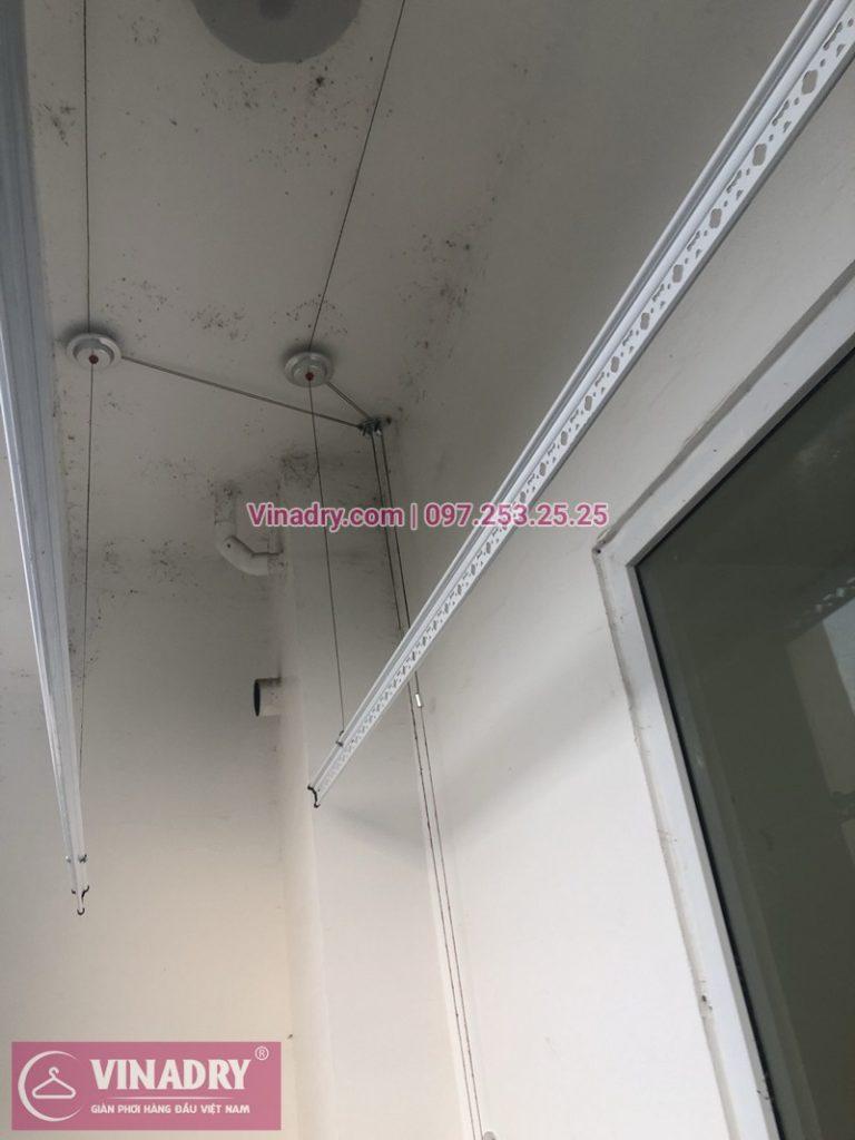 Lắp giàn phơi thông minh tại chung cư Gemek Tower, Hà Đông nhà chị Hòa P117A